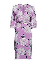 Gwin dress MS19 - PURPLE FLOWER