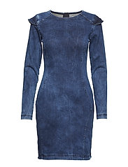 Nicol dress ZE4 18 - DENIM BLUE