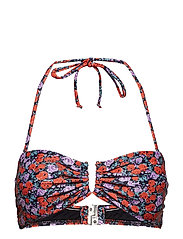 Canta bikini top MS19 - SMALL RED ROSE