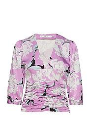 Gwin blouse MS19 - PURPLE FLOWER