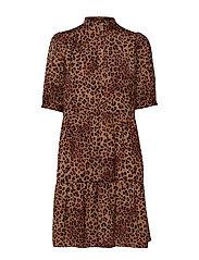 JaneGZ dress HS19 - BROWN LEO