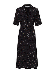 DorothieGZ dress HS19 - BLACK MULTI DOT