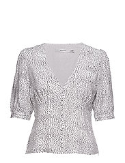 CathrinGZ blouse HS19 - WHITE WITH BLACK DOT