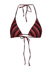 PilGZ bikini top AO19 - BLACK MULTI STRIPE