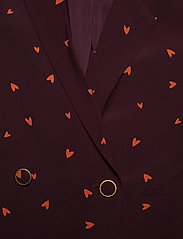 Gestuz - HoneyGZ blazer AO19 - blazere - port royale heart dot - 2