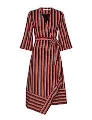 TillyGZ dress AO19 - BLACK MULTI STRIPE