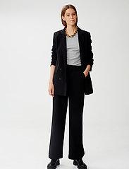 Gestuz - JoelleGZ pants NOOS - bukser med brede ben - black - 0