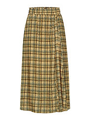 TjekkeGZ skirt ZE1 19 - YELLOW CHECK PRINT