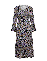 FayaGZ wrap dress ZE1 19 - PURPLE/BLACK FLOWER