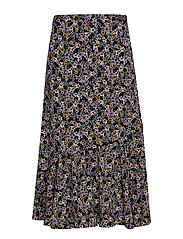 FayaGZ skirt ZE1 19 - PURPLE/BLACK FLOWER