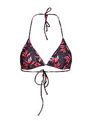 PileaGZ bikini top B - BLACK FLOWER