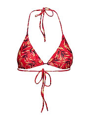PileaGZ bikini top B - RED FLOWER