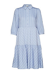 TuanGZ short dress ZE2 19 - BLUE/WHITE STRIPES