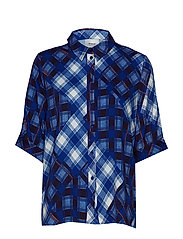 LuanneGZ shirt MA19 - BLUE CHECK