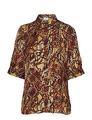 ChellaGZ shirt MA19 - RED/YELLOW SNAKE
