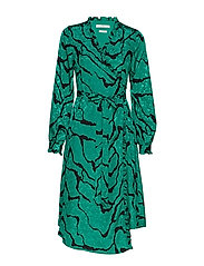 AylinGZ wrap dress MA19 - GREEN RIPPLE