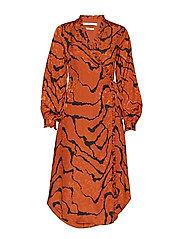 AylinGZ wrap dress MA19 - UMBER RIPPLE