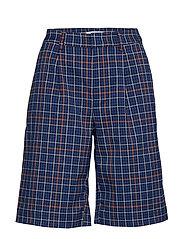 NiraGZ shorts MA19 - BLUE/UMBER CHECK