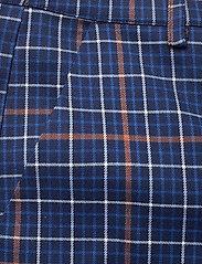 Gestuz - NiraGZ pants MA19 - suorat housut - blue/umber check - 3