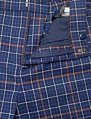 Gestuz - NiraGZ pants MA19 - suorat housut - blue/umber check - 4