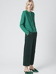 Gestuz - MichaGZ short cardigan MA19 - neuletakit - ultramarine green - 0
