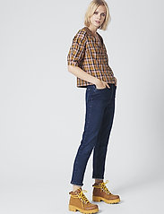 Gestuz - AcieGZ shirt MA19 - short-sleeved blouses - blue/blush check - 0