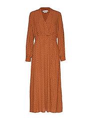 SpotiaGZ dress MA19 - UMBER DOT