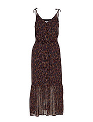 AlminaGZ long dress MA19 - BLACK MULTI DOT