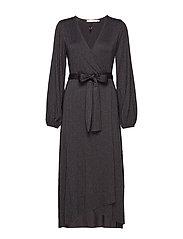 JustaGZ wrap dress YE19 - BLACK