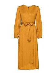 JustaGZ wrap dress YE19 - BONE BROWN