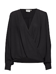 CeniaGZ wrap blouse SO20 - BLACK