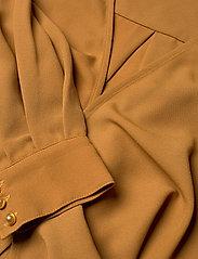 Gestuz - CeniaGZ wrap blouse SO20 - langærmede bluser - bone brown - 3