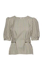 ElionaGZ blouse MS20 - LIME LIGHT CHECK