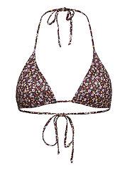 PilGZ bikini top - SMALL FLOWER BLACK BEETLE