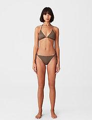 Gestuz - PilGZ bikini top - bikini overdele - brown logo - 0