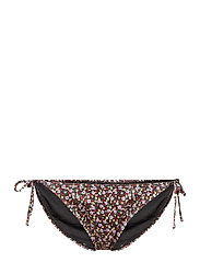 PilGZ bikini bottom - SMALL FLOWER BLACK BEETLE
