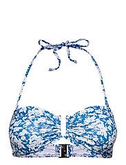 CanaGZ bikini top - MINI BLUE FLOWE AOP