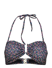 CanaGZ bikini top - SMALL FLOWER BLACK
