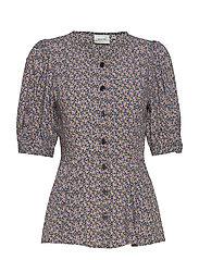 DevaGZ blouse HS20 - SMALL FLOWER BLACK