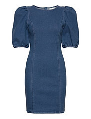 AstridGZ roundneck dress ZE2 20 - DENIM BLUE