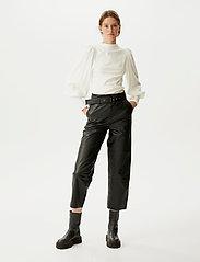Gestuz - RifaGZ puff blouse - langærmede bluser - egret - 0