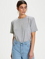 Gestuz - JoryGZ tee - t-shirts - grey melange - 5