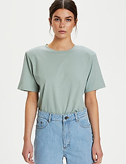 Gestuz - JoryGZ tee - t-shirts - slate gray - 5