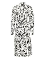 CameaGZ ls dress SO21 - BLACK/WHITE VINTAGE
