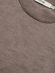 Gestuz - ThelmaGZ duo knit SO21 - cardigans - dark sand melange - 4
