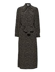 TikaGZ midi dress SO21 - BROWN STROKES