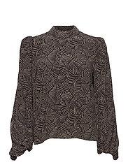 TikaGZ blouse SO21 - BROWN STROKES