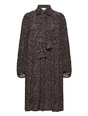 TikaGZ dress SO21 - BROWN STROKES