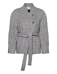 RoselGZ jacket SO21 - GREY/WHITE CHECK