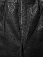 Gestuz - SashaGZ HW leather legging NOOS - læderbukser - black - 3